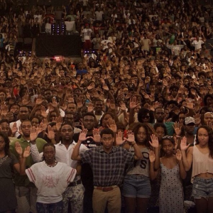 Howard University students join the Hands Up Don't Shoot movement in memory of Michael Brown