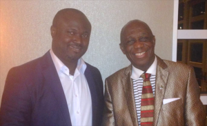 Publisher of ALM Dr. Giami (left) with Dr Thomas Mensah