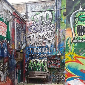 Taggers interviewed for the UT Dallas study said they paint graffiti on buildings like these in North Texas to relieve boredom and stress, and gain recognition for their artistic talent.